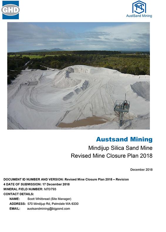 Mindijup – Revised Mine Closure Plan 2018